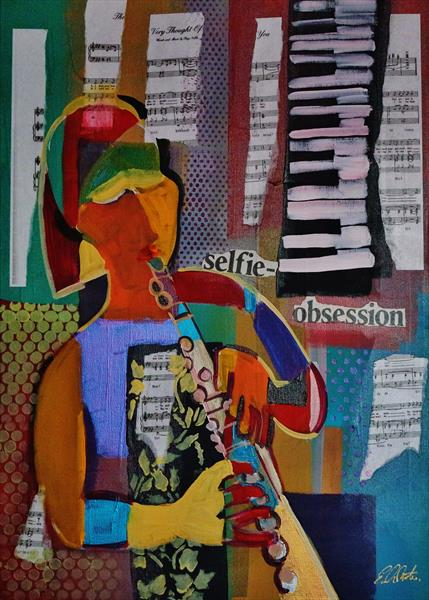 Expresstionist Cubist Selfie-Obsession 854 by Eraclis Aristidou
