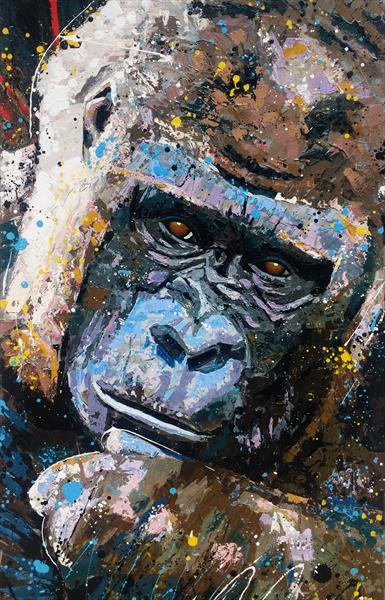 Gorilla - Large Artwork by Angie Wright