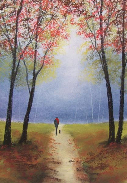 Autumn Woodland Walk 2# by Patricia Richards