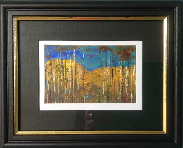 Silver Birches ( framed original) by Sarah Gill