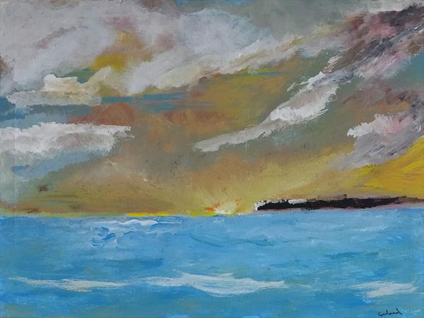 Sunrise on Leith  by Peter Garland