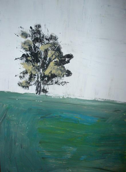 tree in the meadow 2 by chrisa pavlopoulou