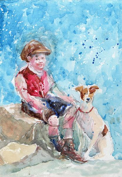 Victorian Boy in the Snow by Gillian Rymer