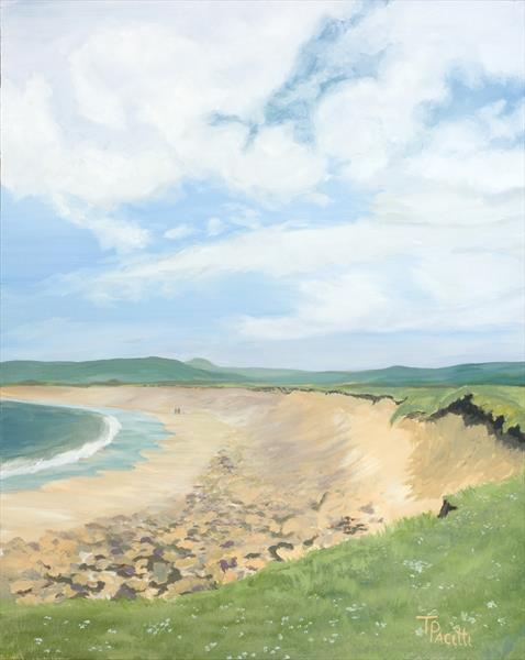 Just the 2 of Us (Skara Brae, Orkney) Limited edition giclee by Tracey Pacitti