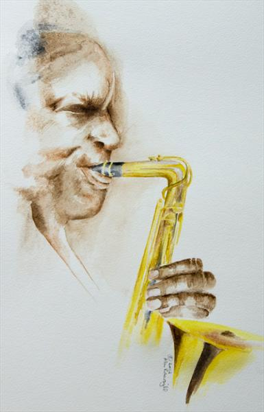 The Saxophone Player by Alan Pickersgill