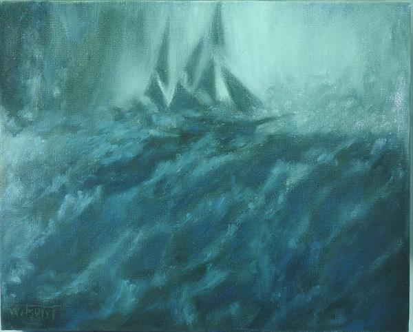 Storm.Ship from the film 'In the heart of the Sea' by Tatiana Wilson