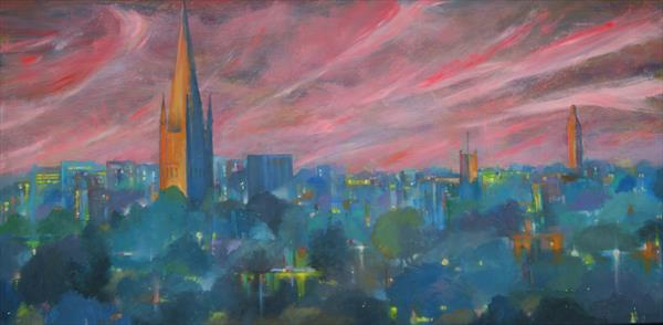 Norwich skies by Peter Hall