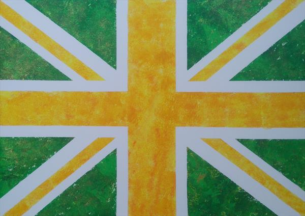 Union Jack - Yellows and Greens by Gary Hogben