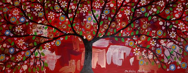 The Sparkly Black Tree in the Sunset Sky by Casimira Mostyn