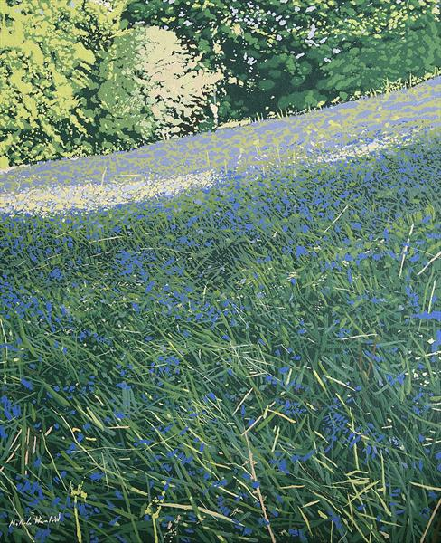 The Bluebell Field by Malcolm Warrilow