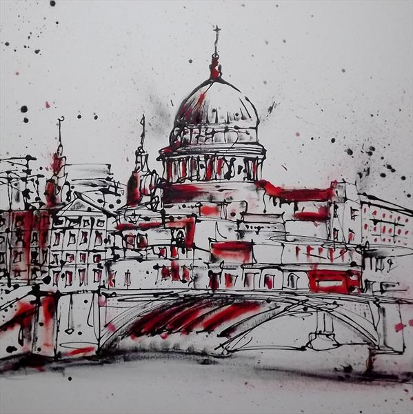 ST PAULS LONDON ( OIL ) by Keith Mcbride