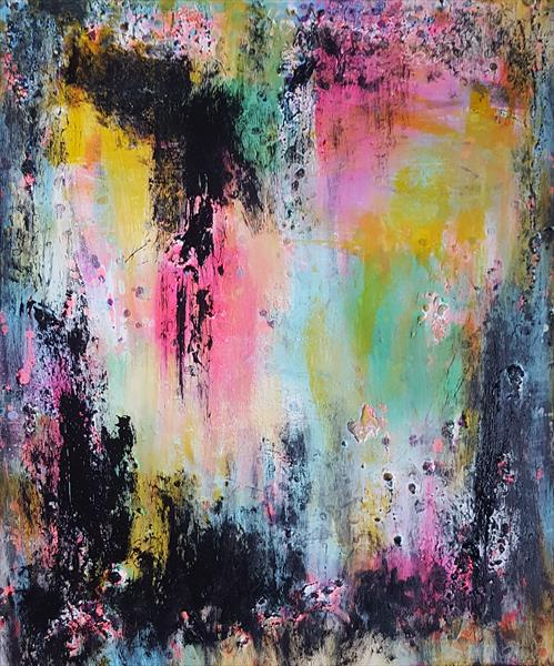 """24""""x20""""(60x50cm), Ready to Hang, bold painting by Veronica Vilsan"""