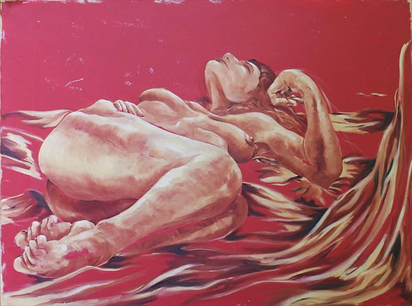 Red Nude by Stuart Cardno