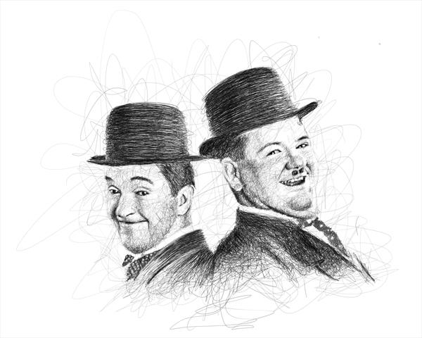 Laurel and Hardy by Jools Greenyer