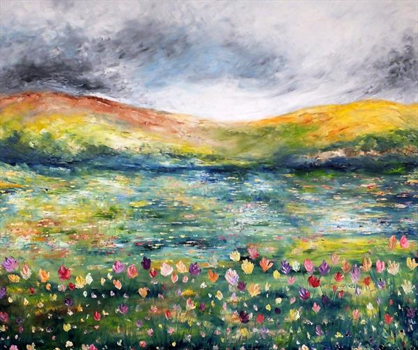A Butterfly Heaven (Large Contemporary) by Hester Coetzee