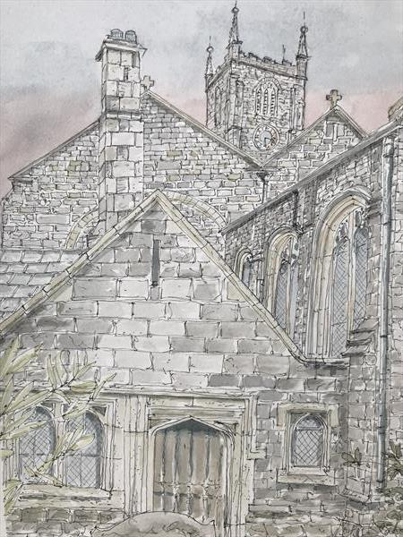Church roofs by Peter Blake