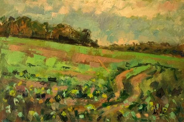 Field at Patching, West Sussex by Andre Pallat