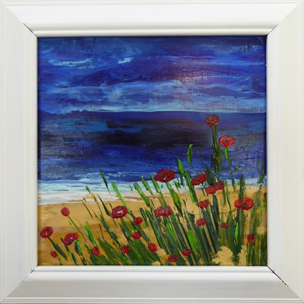Lochside Poppies by Elaine Allender