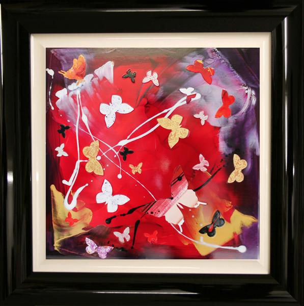 Butterfly Masquarade (Framed, Gloss) On Display At the Art Gallery, Tetbury