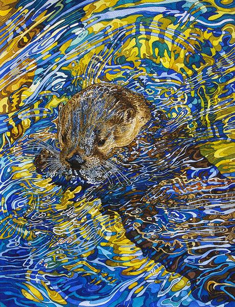 Otter heading out by Rhian Symes