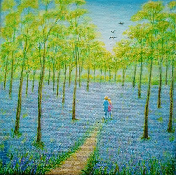 Bluebell  Wood by may than