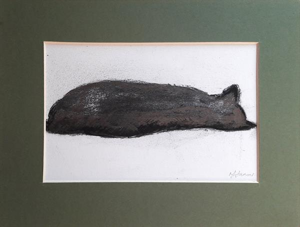 Two Cat sketches by Teresa Tanner