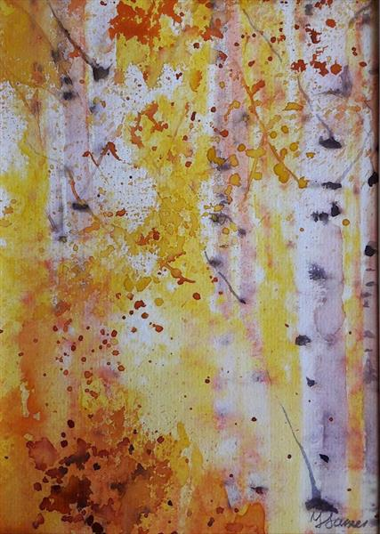 Impressions of Silver Birches by Teresa Tanner