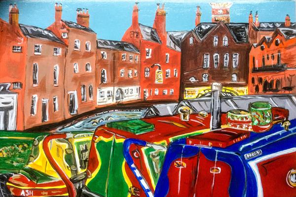 Gas Street Basin Birmingham  by Paul O'Leary