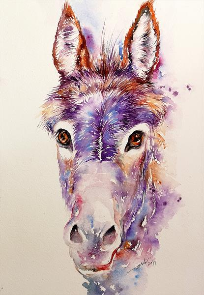 Donkey with Purple Fringe by Arti Chauhan