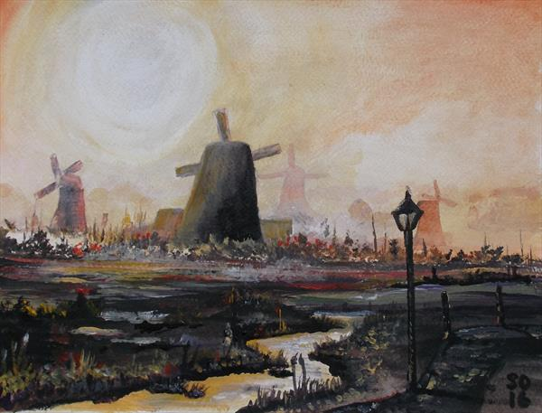 [Sold] The Windmills of Holland