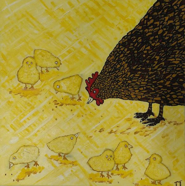 Chicken Family by Janice Jung