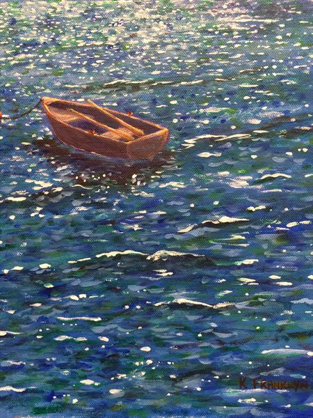Boat on the Shimmering Sea  by Kevin Franklyn