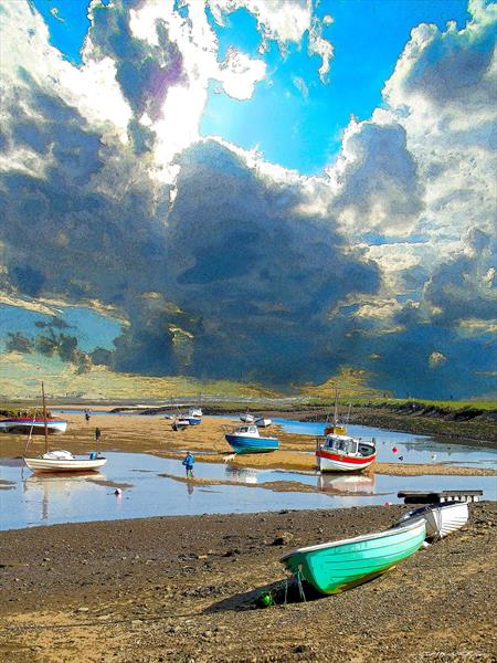 Burnham Overy Staithe by PAUL CHILVERS