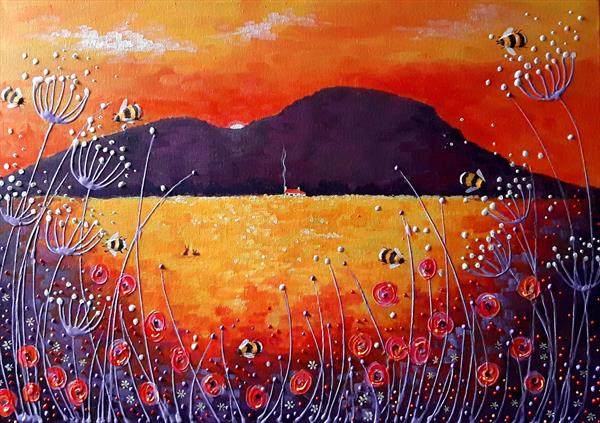 Red Sunset by Angie Livingstone