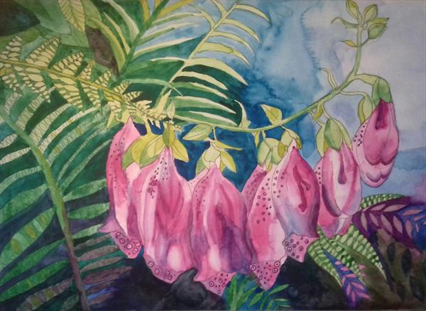 Foxglove and Ferns by Esmee Van Breugel