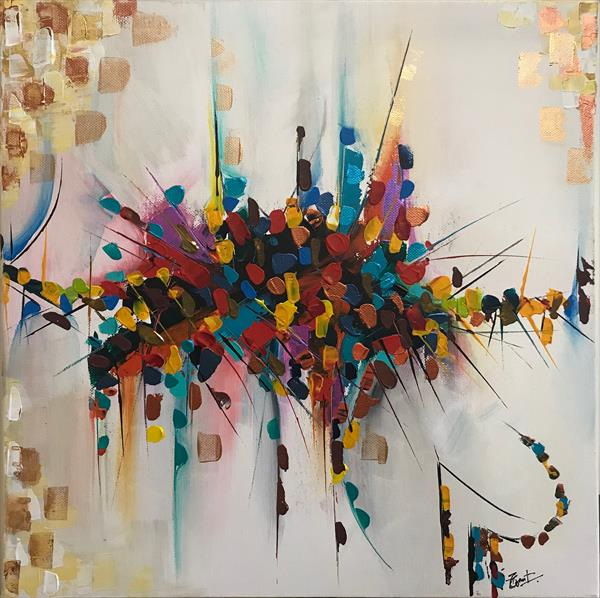 Speed  Abstract Painting 101 by  Rizna  Munsif