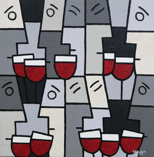 Red Wine Party by Simon Fairless