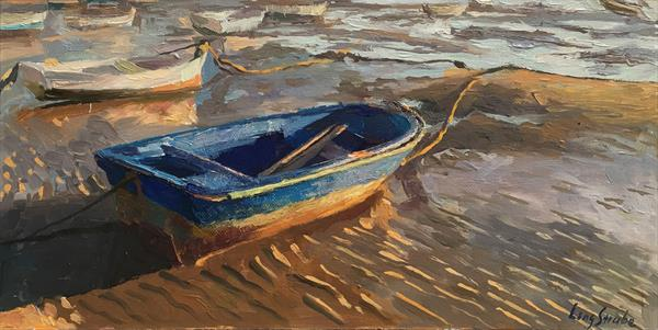 A Boat in Cadiz by Ling Strube