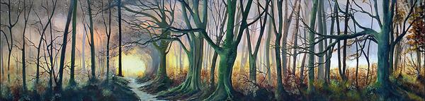 What Lies beyond the Light-LARGE PANORAMIC by Elizabeth Williams