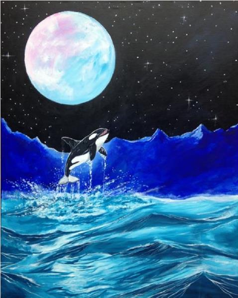 Arctic Moon (very large canvas) by David King