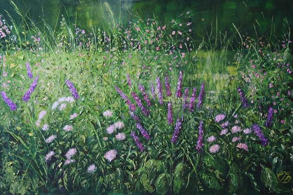 Riverbank Wildflowers by Colette Baumback