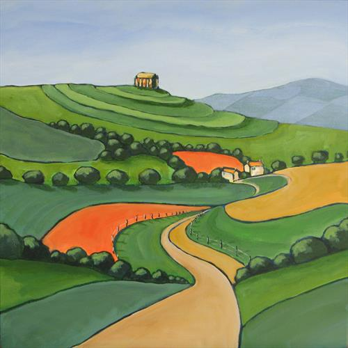 Road to St. Catherine's Chapel by Hilary Buckley