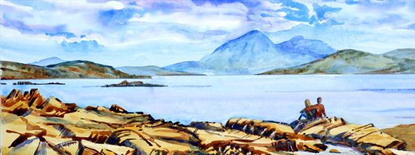 The Cuillin from the Applecross Peninsula by Rob Wigham