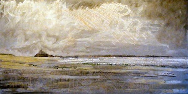 Mont St Michel From Saint Jean Le Thomas by Tom Tomos