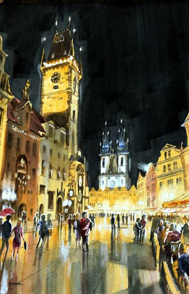 The Old Town Square, Prague by Rob Wigham