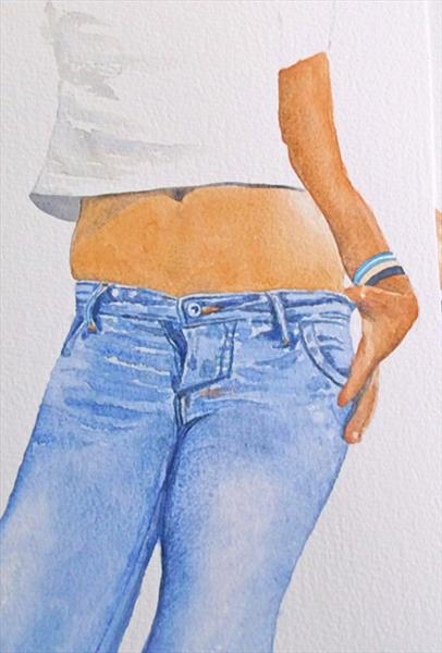 Blue Jeans by Maureen Crofts