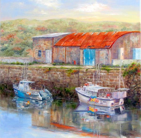 Early Morn in Hayle by Patricia Cunningham