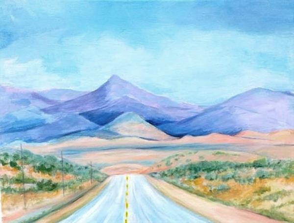 Twixt Albuquerque and Santa Fe by Maureen Lacey
