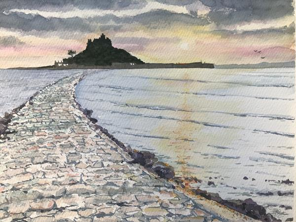 St Michael's Mount sunset by Peter Blake