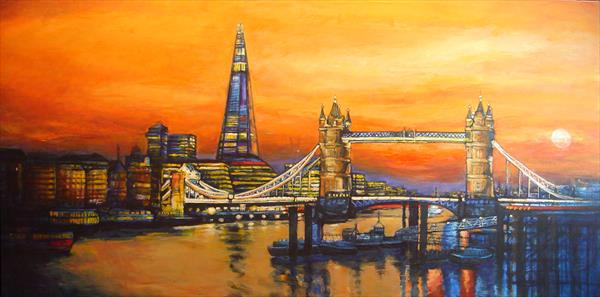 Tower Bridge and Shard London Skyline 11 by Patricia Clements